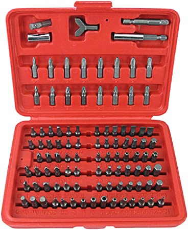 100pcs//set Chrome Vanadium Steel Screwdriver Torx Hex Head Bits Set w// Case