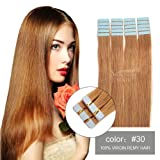 SHOWJARLLY Seamless Remy Tape in Hair Extensions