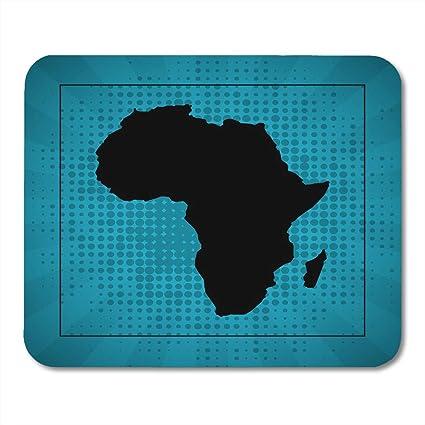 Amazon.com : Boszina Mouse Pads Black Atlas Sketch Dotty African ...