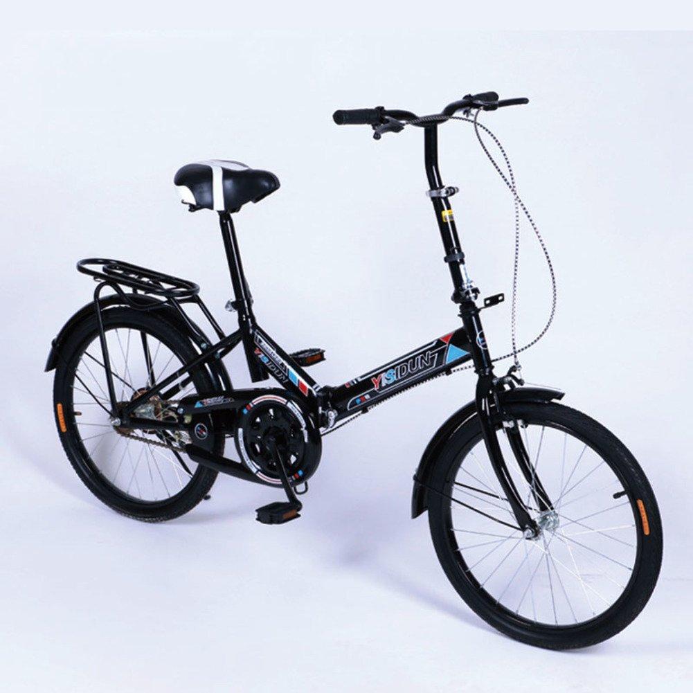 女性 折りたたみ自転車, 大人 折りたたみ自転車 女性自転車 男女 スタイル 学生の車 折りたたみ自転車 B07D2BW3CG 20inch|黒 黒 20inch