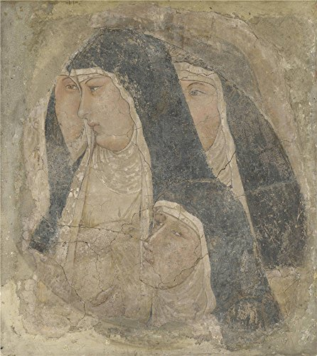 Cave Girl Costume Makeup - Oil Painting 'Ambrogio Lorenzetti A Group Of Poor Clares ' Printing On Perfect Effect Canvas , 18 X 20 Inch / 46 X 51 Cm ,the Best Gift For Girl Friend And Boy Friend And Home Decor And Gifts Is This Best Price Art Decorative Prints On Canvas