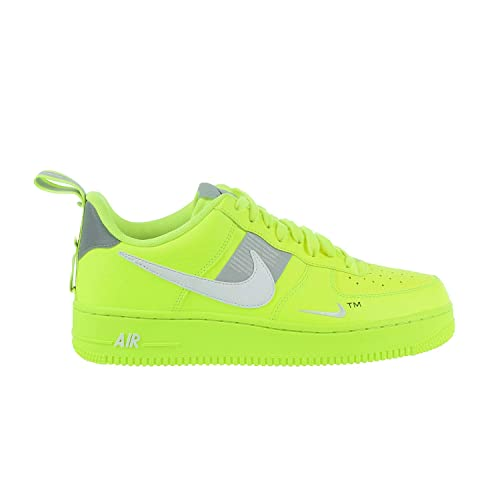 finest selection 0c0f5 67d6b NIKE Air Force 1  07 LV8 Utility Volt White-Black-Wolf Grey