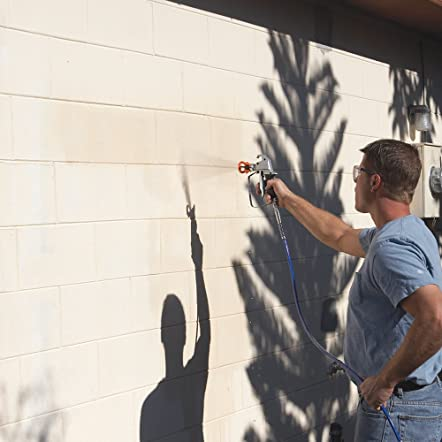 Painting exterior wall