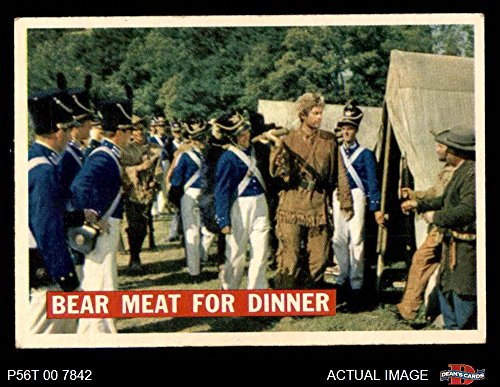 1956 Topps Davy Crockett Orange Back # 5 Bear Meat For Dinner (Card) Dean's Cards 5 - EX 2509033