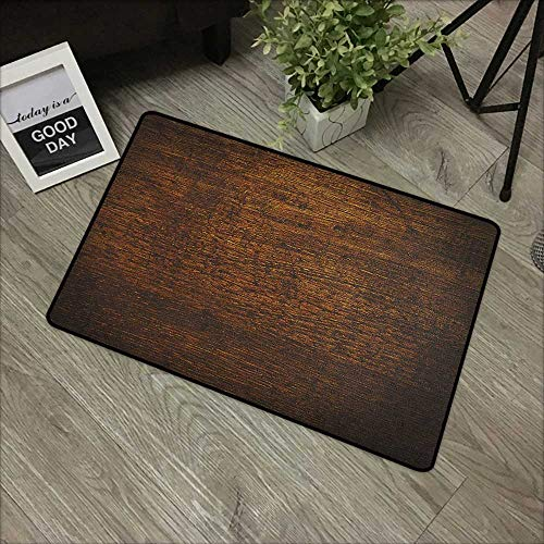 - Outdoor Door mat W19 x L31 INCH Wooden,Old Vintage Antique Timber Oak Background Rustic Floor Artisan Photo Print, Chestnut and Brown Easy to Clean, Easy to fold,Non-Slip Door Mat Carpet