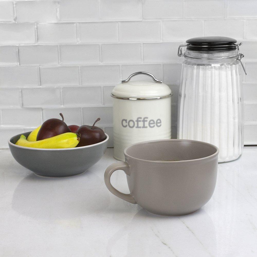 Black Home Basics CM01586 Ceramic 22 Ounce Jumbo Mug
