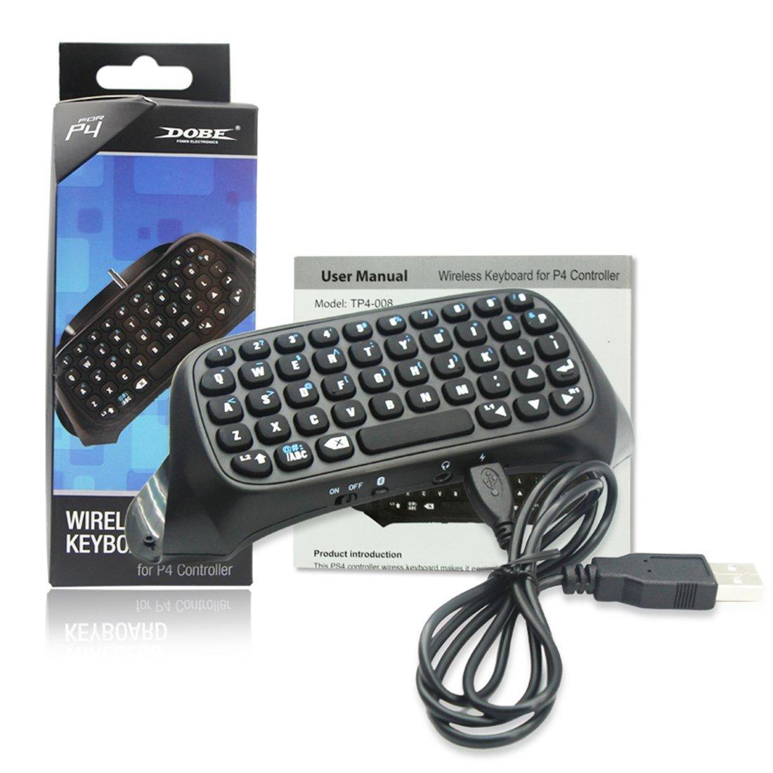 PS4用ミニコントローラチャットキーボード、PS4 B07KN65MHN/ PS4用2.4Gレシーバーチャットパッドメッセージゲームキーパッドスリム/ PS4/ Proコントローラ(ブラック) B07KN65MHN, イッシキチョウ:0824cb86 --- lindauprogress.se