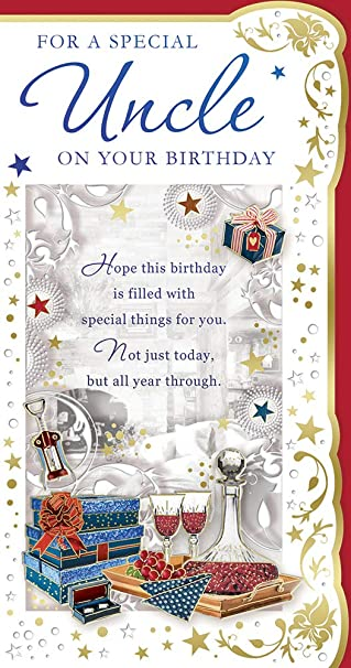 Amazon.com: Tarjeta de cumpleaños para tío – vino rojo ...