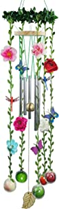 Platycodon Artificial Vine Wind Chimes - Tree of Life Windchimes,Porch Garden Art Outdoor Decorations for Garden Windchime