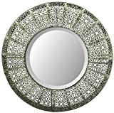 LuLu Decor, Lacy Round Silver Metal Beveled Wall Mirror 19″ (Lacy Round) Review