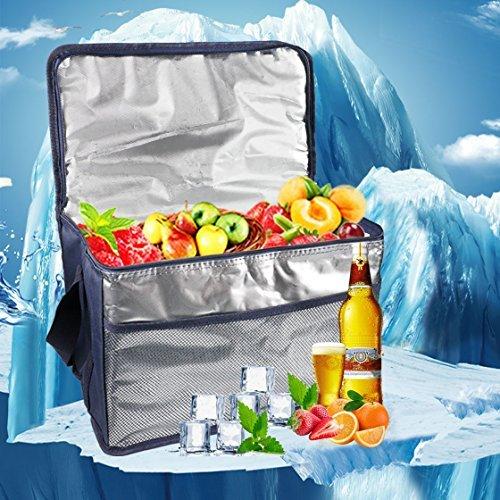 Borsa termica Borsa Frigo Porta Pranzo Pieghevole Isoterma Mantenere Caldo o Freddo, perfetti per il campeggio, le grigliate e l\'outdoor, pieghevole e isolata