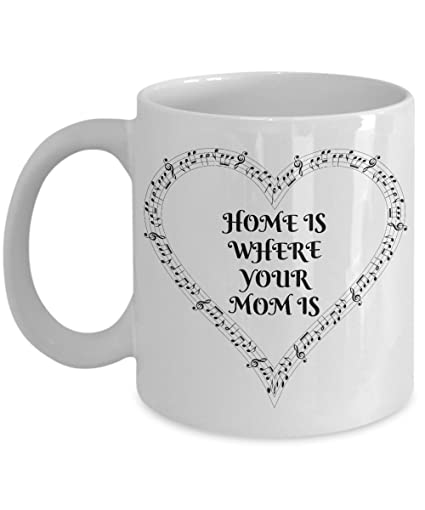 Amazoncom Mugs For Mom Or Step Mom Home Is Where My Mom Is Quote