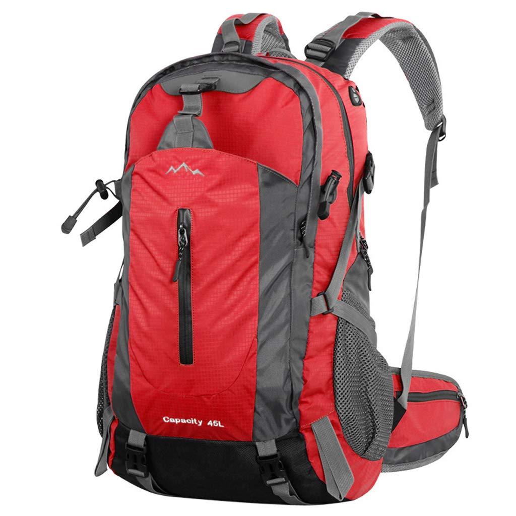 rouge  WGKUMMQN Sac à Dos Plein Air pour Hommes Et Femmes De Grande Capacité Sac d'alpinisme D'éQuitation Camper à Pied Multifonctionnel ImperméAble à l'eau ImperméAble
