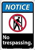 NMC NGA21RB Notice - No trespassing. - 10 in. x