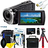Sony HDR-CX455 Full HD Handycam Camcorder with 8GB Internal Memory + 32GB Micro SD Card + Expo Essential Accessories Bundle