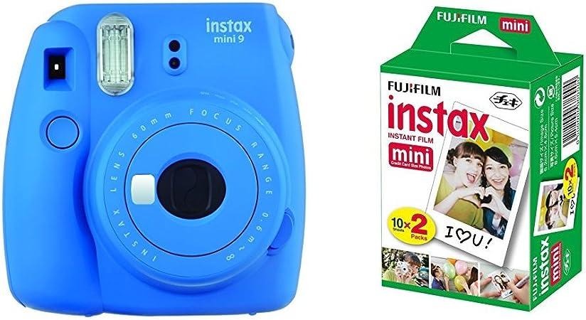 Fujifilm Instax Mini 9 - Cámara instantánea, Cámara con 2x10 ...