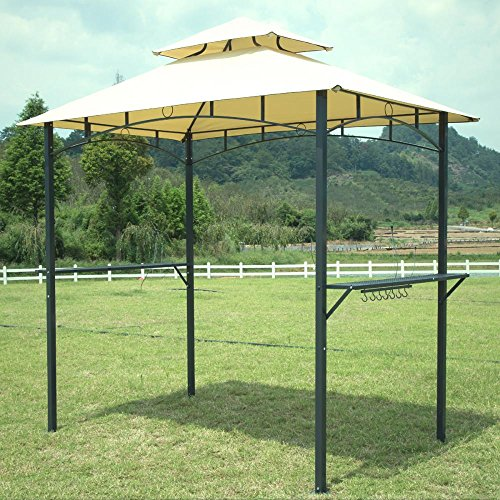 Fdw 8 39 x 5 39 bbq grill gazebo barbecue canopy bbq grill tent w air vent garden structures - Gazebo get upcoming barbecues ...