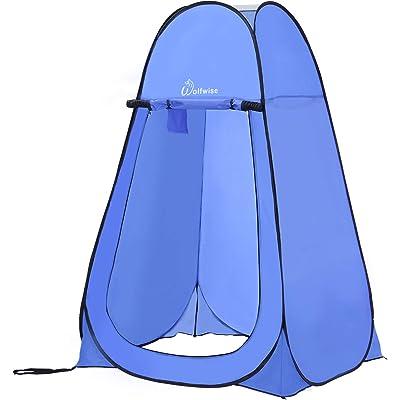 WolfWise Tienda de Campaña Tent Abrir Cerrar Automáticamente Pop Up Portable Sirve para Camping Playa Bosques Zonas de montaña Ducha Aseo Carpas