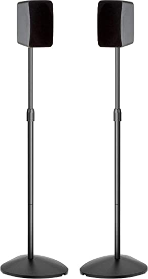 Speaker Stands Height Adjustable 8-8 Inch Surround Sound Stand Hold  Satellite & Small Bookshelf Speakers to 8lbs (ieBose Polk JBL KEF Klipsch  Sony
