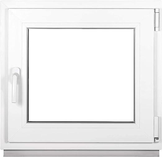 Fenster Kellerfenster Kunststofffenster Breite BxH 70x80 DIN rechts Premium 70 cm 2 fach Verglasung Alle Gr/ö/ßen Dreh Kipp Wei/ß