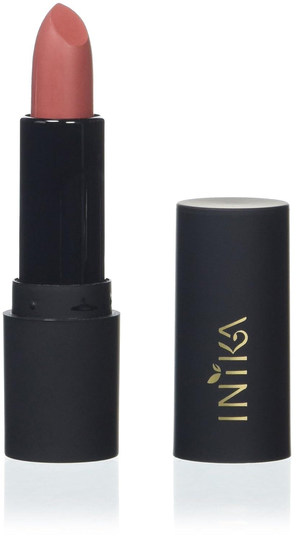 Inika Certified Organic Vegan Lipstick 100% Vegan Natural Make-Up, Argan Oil, Shea Butter, Moisturizing Lipsticks, Protecting, Long Lasting Vibrant Color, Halal, 4.2 g (Pink Poppy)