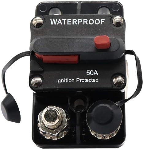 Homyl Caja magnetotermico Reset Manual Protección sovracarico para Coche Marina: Amazon.es: Deportes y aire libre
