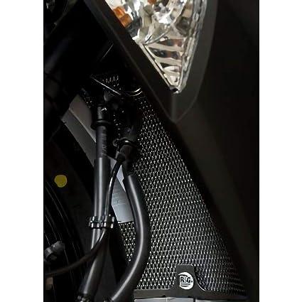 R&G RACING R & G Radiador Guardia en negro para la Kawasaki ...