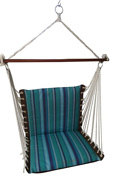 Hangit Polyester Premium Cushioned Home and Garden Hanging Swing Chair for Indoor / Outdoor (Artic Stripe)