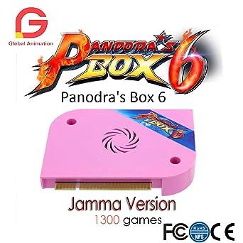 Amazon.com: 1300 in 1 Pandora Box 6 jamma board HDMI VGA CGA For ...