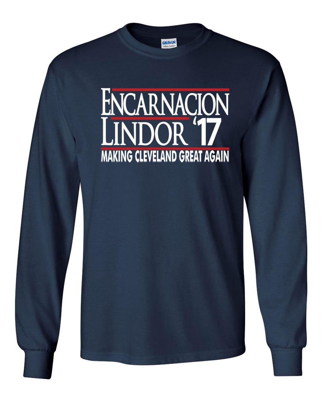 Navy Cleveland Lindor Encarnacion Lindor 17 Tshirt