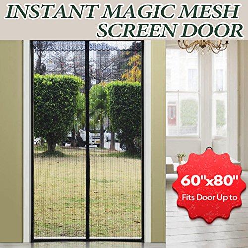 Magnetic screen door fit door 60 w x 80 h full frame for Removable screen door