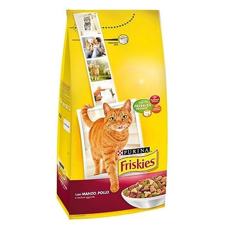 FRISKIES Adulto con pollo y verduras seca de res 2 kg gorÍa Comida seca gatos