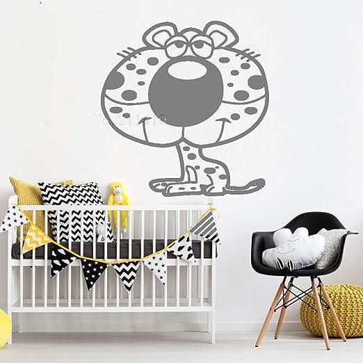 Vinilo Animal Tatuajes de pared Leopardo de dibujos animados ...