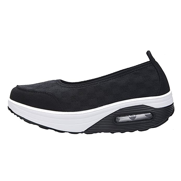 Blivener Women's Casual Slip-On Breathable Air Mesh Platform Shoes:  Amazon.co.uk: Shoes & Bags