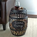 Large Wine Barrel Cork Catcher with Blackboard
