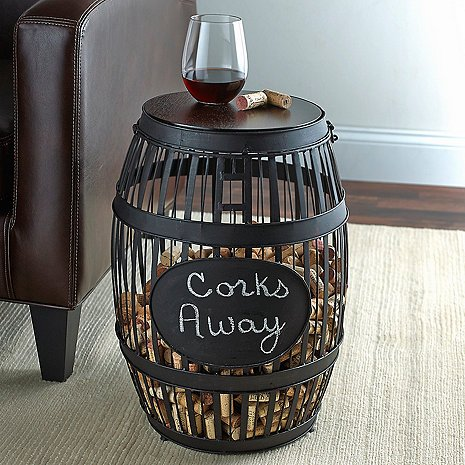 Large Wine Barrel Cork Catcher with Blackboard by GIFTS PLAZA