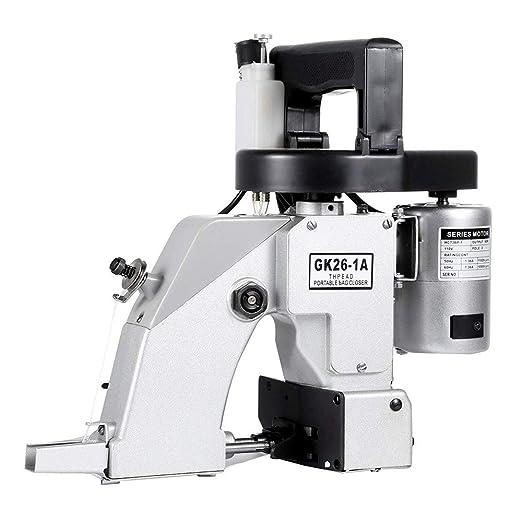 HUKOER Máquina cerradora de bolsas Máquina de coser Herramienta de costura Máquina de coser eléctrica portátil (GK26-1A 220V)