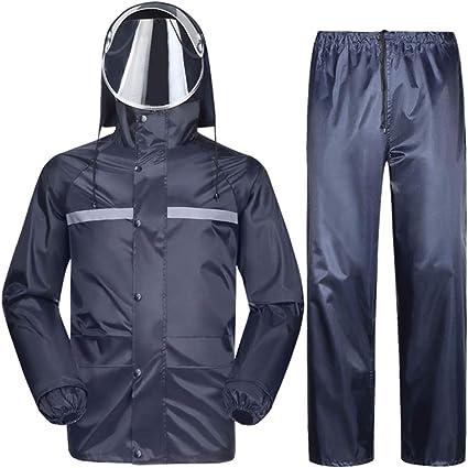 Size : L Impermeabile da Moto Impermeabile Nero E Antivento Impermeabile da Moto Impermeabile Raincoat da Uomo