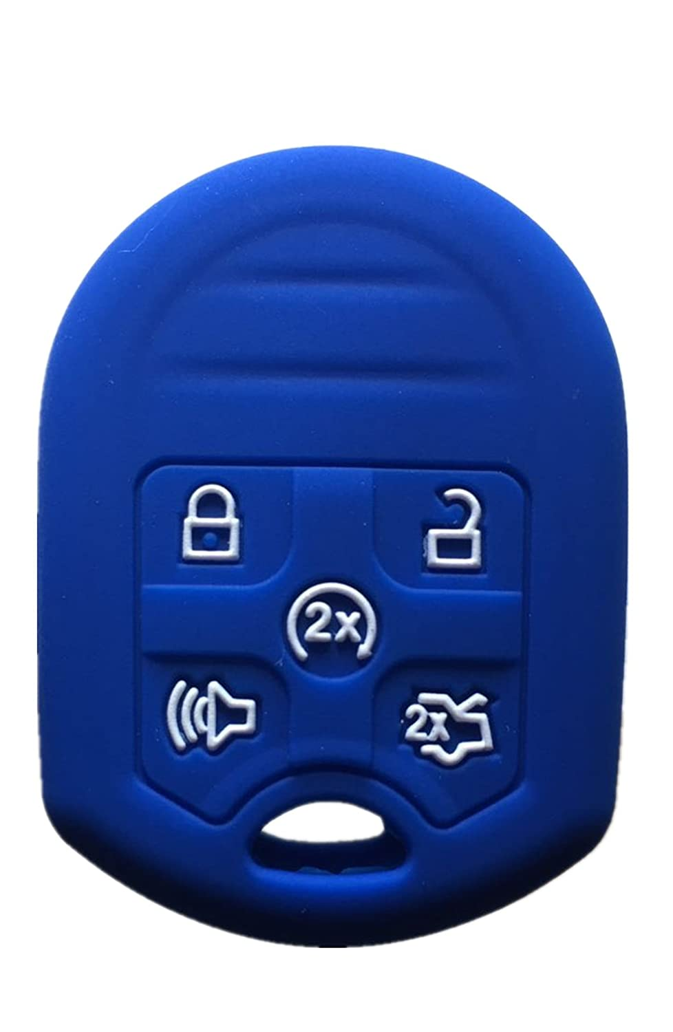 Rpkey Silicone Keyless Entry Remote Control Key Fob Cover Case protector For Ford Edge Expedition Explorer Flex Focus Fusion Mustang Taurus 164-R8000 CWTWB1U793