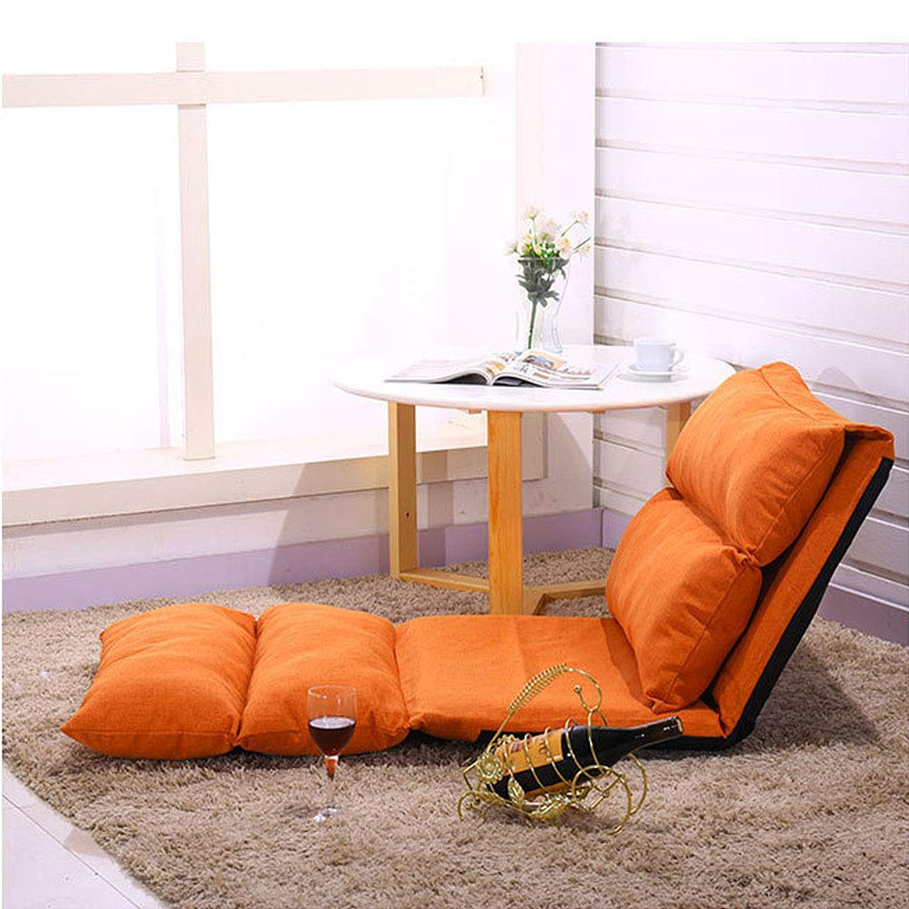 PT Lazy Couch Multi-Function Foldable Lounge Chair, Indoor and Outdoor Adult Game Soft Close-Fitting Chair,Orange by PT