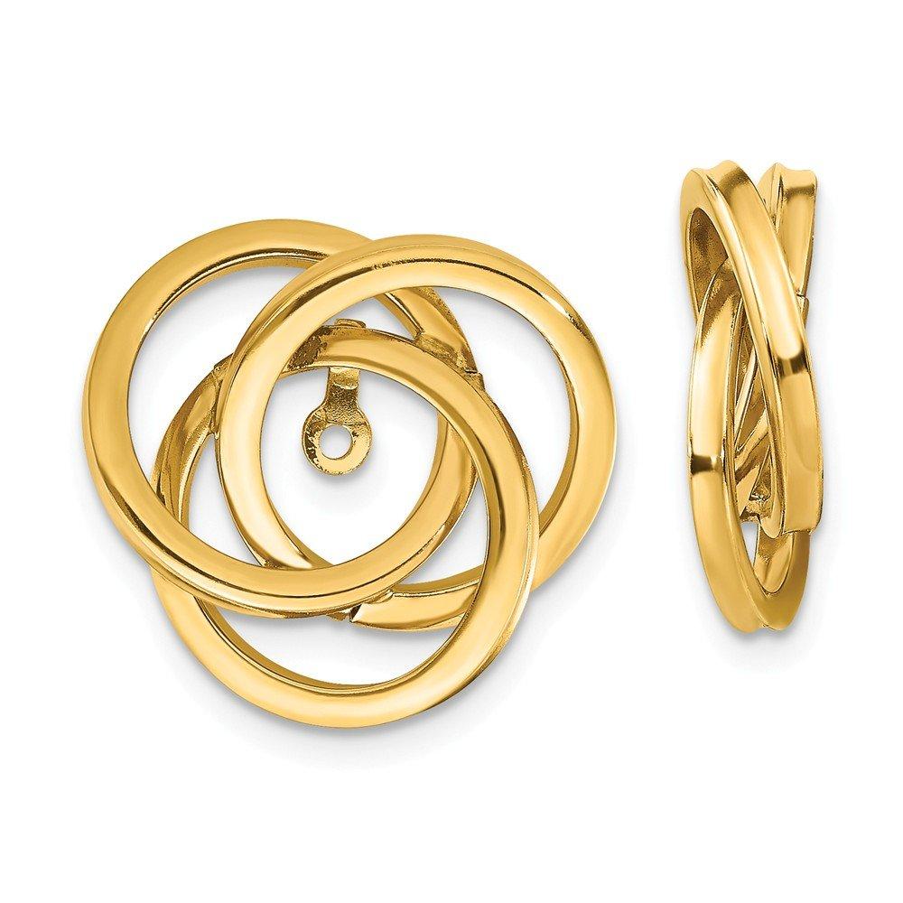 Mia Diamonds 14k Yellow Gold Polished Love Knot Earring Jackets