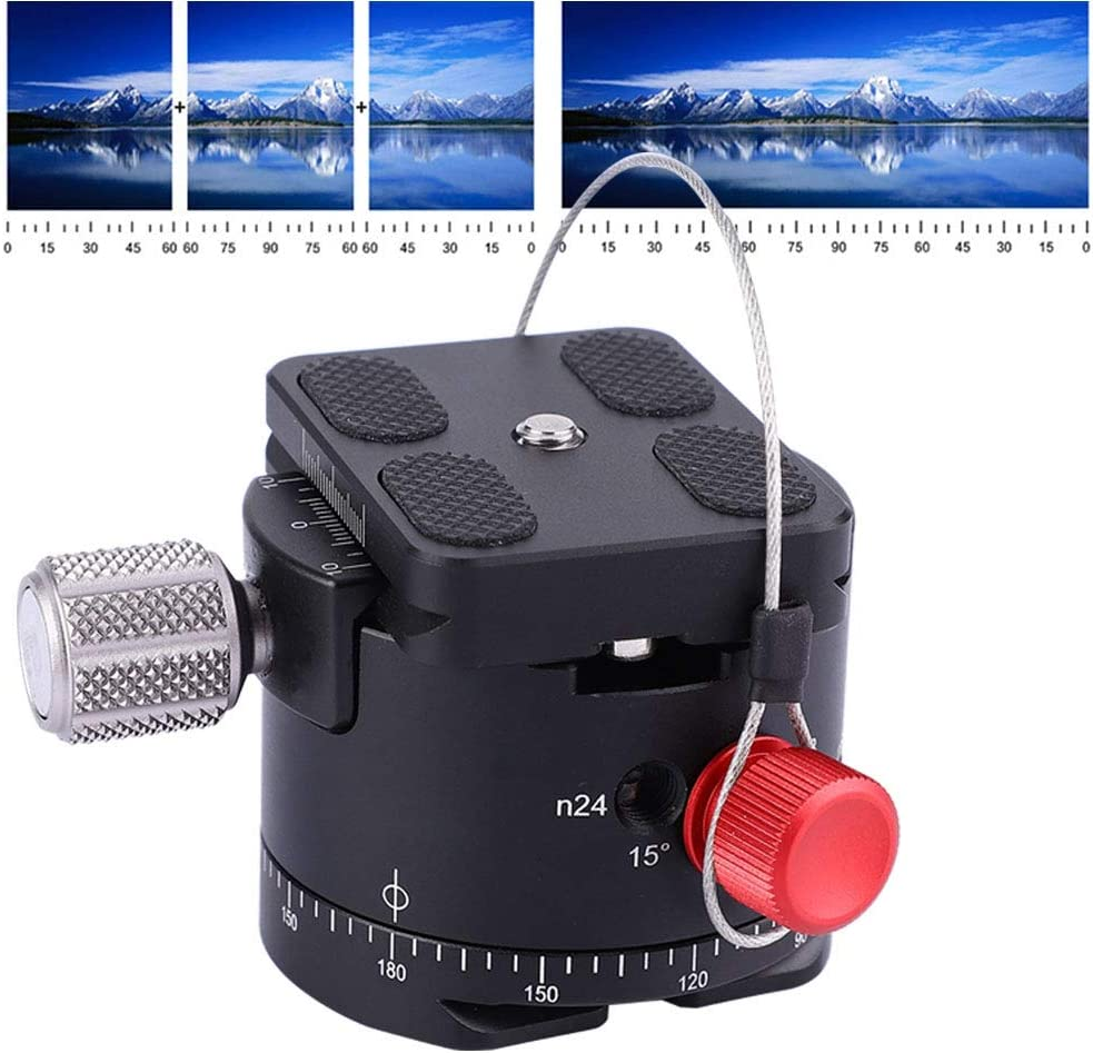 360 Degree Panoramic 10 Stops Click Stability Durability Portable Lightweight Tripod Head with 1//4inch Screw for Camera Tripod Indexing Rotator Ball Head