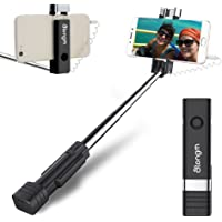Mini Selfie Stick, atongm Cell Phone Selfie Sticks Extendable Mini All in One Wire Selfie Stick for Cellphone(iPhone…
