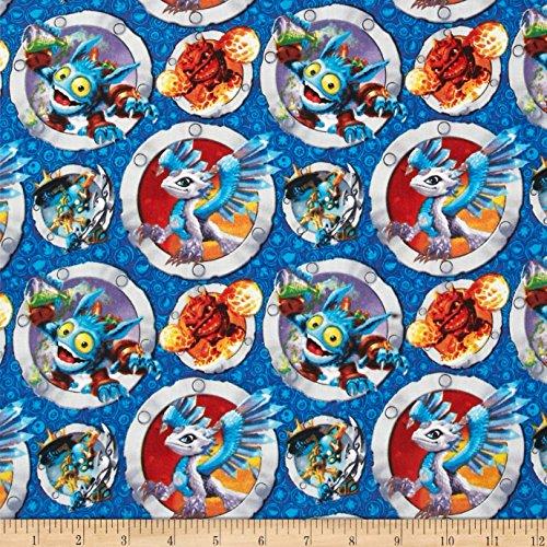 Skylanders Navy Fabric By The Yard -