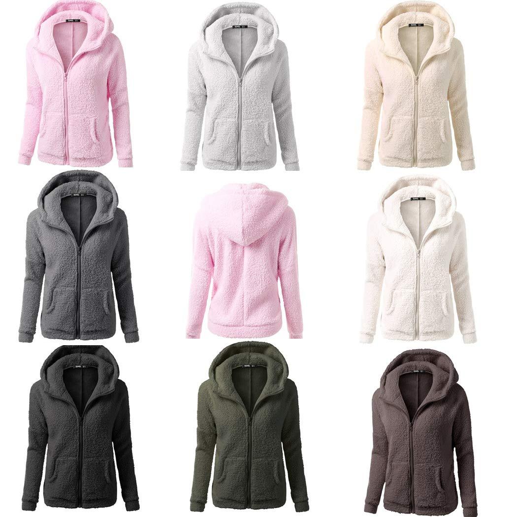 Amazon.com: DICPOLIA Womens Plus Size Long Jackets Winter ...