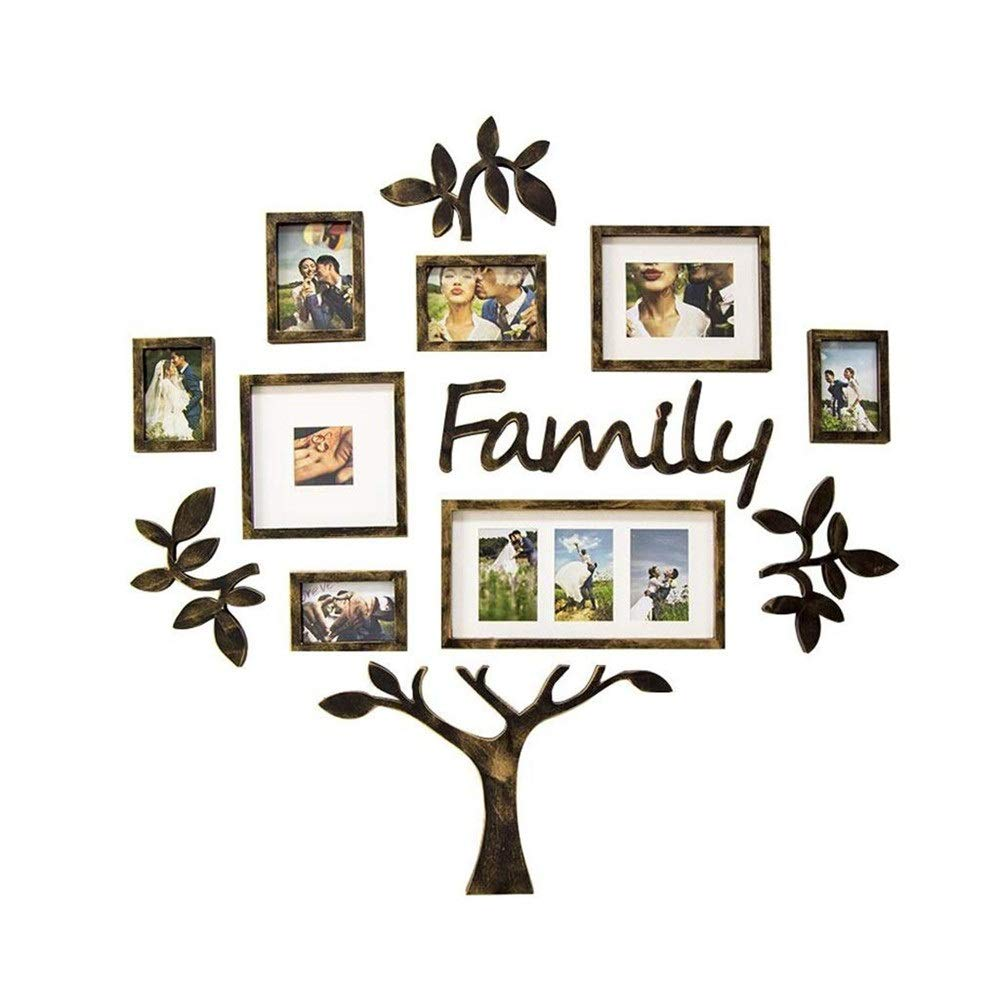 Color : A HDJJQI Family Photo Wall Decoration Photo Wall Creative Personality Set Tree Frame Wall Hanging Wall Living Room Dining Room Bedroom Corridor Photo Frame