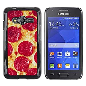 Caucho caso de Shell duro de la cubierta de accesorios de protección BY RAYDREAMMM - Samsung Galaxy Ace 4 G313 SM-G313F - Pepperoni Italian New York Food