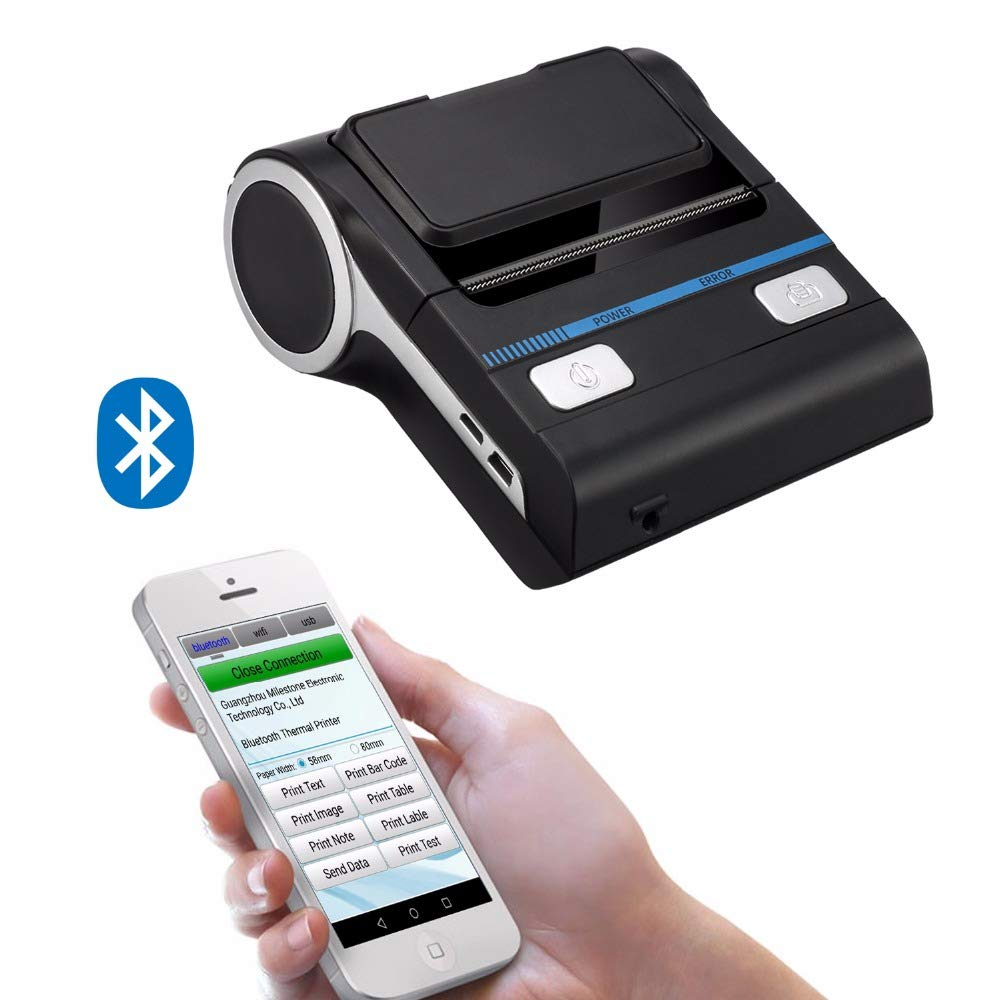 Amazon.com: Y&H Bluetooth Thermal Printer Portable 80mm ...
