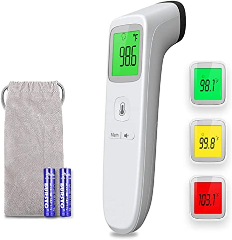 Kids with LCD Display Objects and Ambient Digital Infrared Forehead Thermometer Instant Accurate Reading Body and Surface Thermometer Infrared Thermometer for Baby Adults