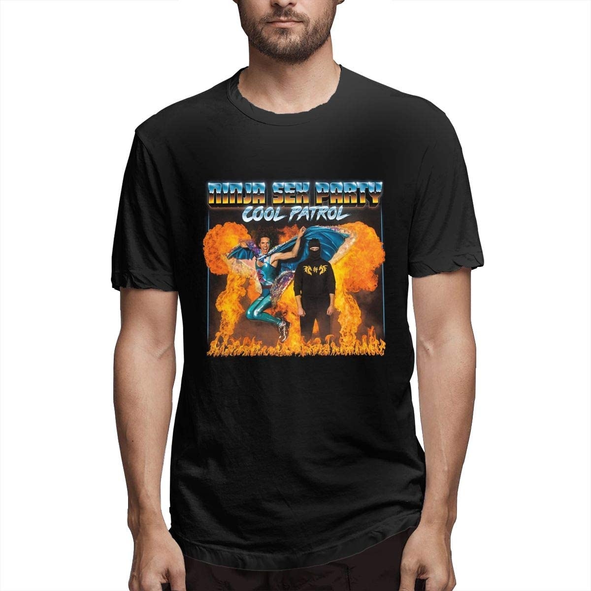 Ninja Sex Party T Shirt Men's Stylish Short Sleeves Round Neck T-Shirt